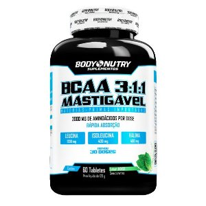 BCAA 3:1:1 Mastigável Body Nutry 60 tabletes