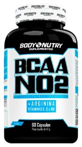 BCAA NO2 Arginina Body Nutry 60 cápsulas