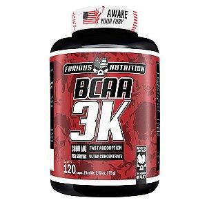 BCAA 3K Furious Nutrition 120 cápsulas