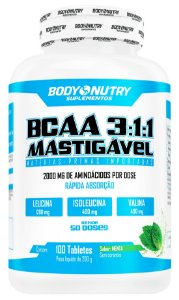 BCAA 3:1:1 Mastigável Clinical Body Nutry 100 tabletes