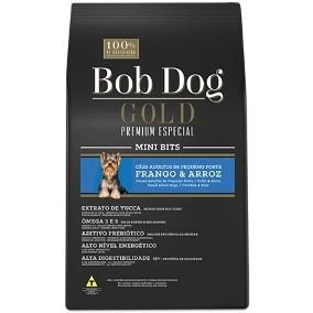 Bob Dog Gold Mini Bits Frango e Arroz 15Kg