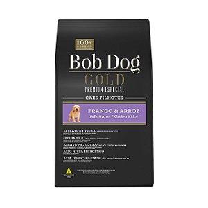 Bob Dog Gold Cães Filhotes Frango e Arroz 15Kg