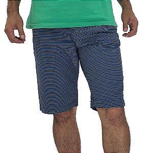 Bermuda Estampada Masculina Listrada Azul