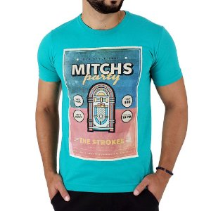 Camiseta Masculina Mitchs Verde Old Time Party