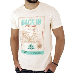Camiseta Masculina Mitchs Creme Back In The Time