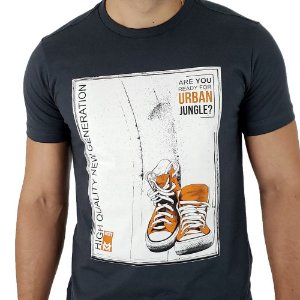 Camiseta Masculina Mitchs Grafite Urban Jungle