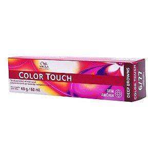 Tonalizante Color Touch Wella 6/77  Louro Escuro Marrom Intenso