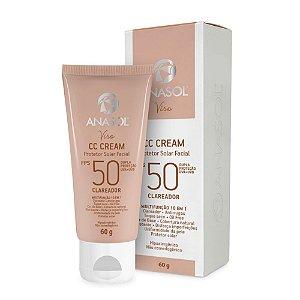 Protetor Solar Facial Anasol CC Cream Clareador FPS 50 60g