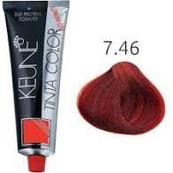 Tintura Keune Color 7.46 - Louro Medio Cobre Vermelho 60ml