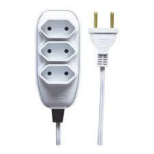 Extensão Elétrica Feros TRI.2X0,75MM 3M