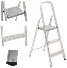 Escada Domestica Alumínio 3 Degraus