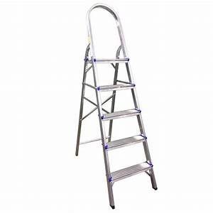 Escada Domestica Alumínio 5 Degraus