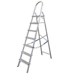 Escada Domestico Alumínio 7 Degraus