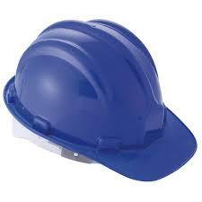 Capacete Construção Com Carneira Azul