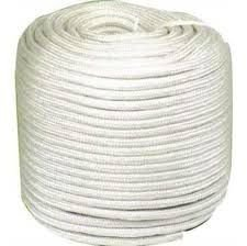 Corda  de seda Branca Trançada 8mm 20Metros