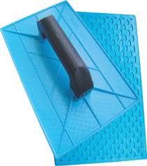 Desempenadeira Plastica Corrugada 18X30 Azul