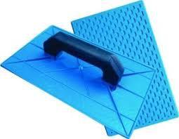 Desempenadeira PVC Azul Corrugada 16X28