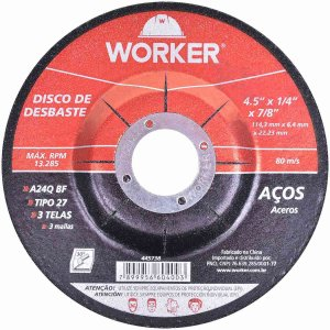 DISCO DESBASTE 4.1/2P X114,3MM