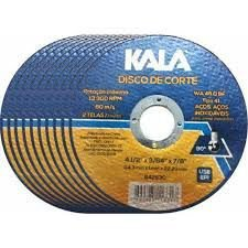Disco Corte Fino Aço e Aço Inox 4P 115X1,0X22 - Kala Caixa 100 Unidades