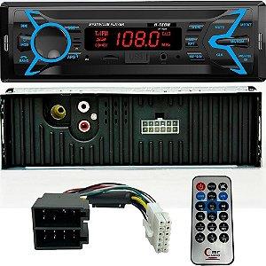 AUTO RADIO USB/SD/AUX/BLUETOOTH 4X25W - COM CONTROLE HT1022