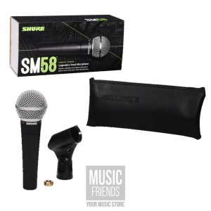 Microfone Shure Sm Sm58 Dinâmico  Cardióide E Unidirecional Preto
