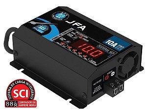 Fonte carregador de bateria Jfa 10a Slim SCI com display