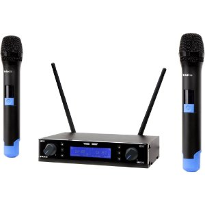 Microfone Sem Fio Duplo Akg Km200 Uhf Vocal Set Profissional