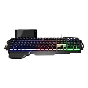 Warrior Zuberi teclado gamer superficie metal TC210