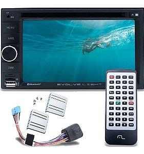 Dvd Multimidia 2 Din Multilaser Dvd Evolve Bluetooth Usb P3321