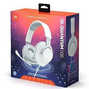 Fone de ouvido JBL Quantum 100 branco