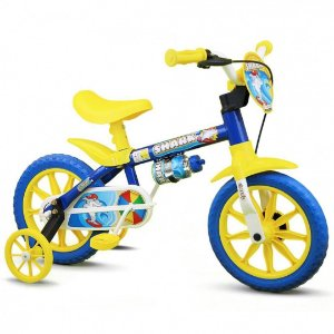 BICICLETA ARO 12 MASC SHARK AZUL/AMAR BIG BOY BIKE