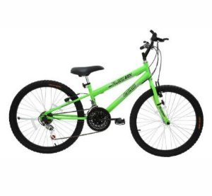 BICICLETA 24 MTB REB 18M FLASH BOY VERDE NEON BIKE