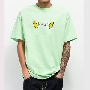 Camiseta Haze Wear New HBOLTS Verde Água