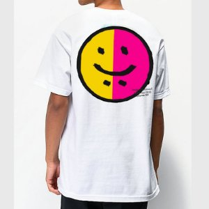 Camiseta HAZE wear Happy & Sad Branca