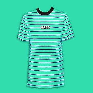 Camiseta HAZE wear Real Logo Listrada Verde
