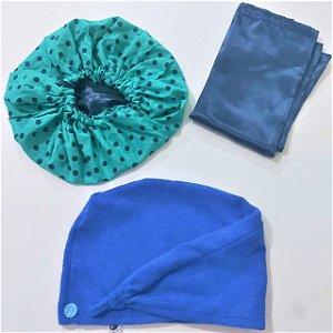 Kit Especial de Natal Azul Poá