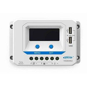 Controlador de Carga PWM 20A 12/24V - Epever Viewstar VS2024AU