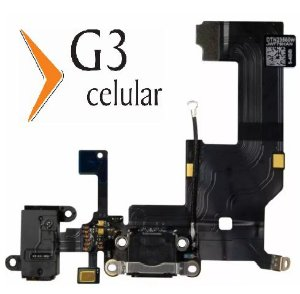 Cabo Flex Conector de Carga Apple iPhone 5 Preto