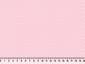 Tecido Tricoline Poá Pequeno Rosa Bebê 1380-S188-PFT