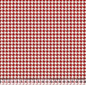 Tecido Tricoline Pied De Poule Vermelho 4025-02
