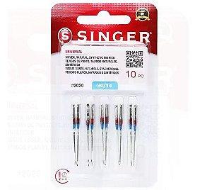 Agulha de Maquina Singer para costura comum nº14 c/10und V974