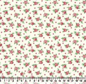 Tecido Adesivado Flor Rosa V853-6026-01 -- 0,15 m x 1,00 m