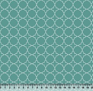 Tecido Tricoline Quadrado Círculo Verde 3819-05