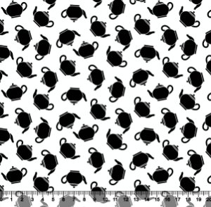 Tecido Tricoline Bule Preto com Fundo Branco 5221-01