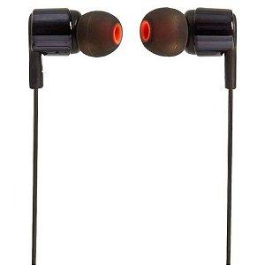 FONE DE OUVIDO JBL T210 BLK IN-EAR COM MICROFONE PRETO JBLT210BLK