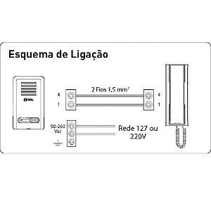 INTERFONE HDL BRANCO AZ-S 01