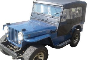CAPOTA JEEP WILLYS 51/54 - 4 CORTINAS