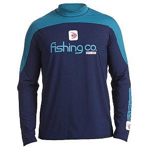 Camiseta Fishing co. Recorte Masc. Marinho/Petróleo