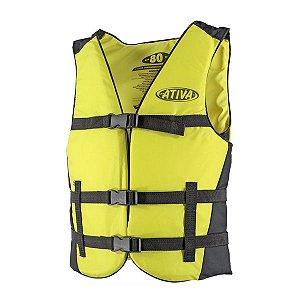 Colete Náutico Ativa Canoa 60kg - Amarelo