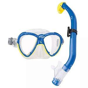 Kit de Mergulho Infantil Seasub Kids Bubble Silicone